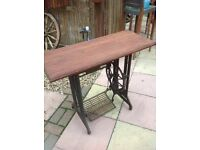 Singer Sewing Machine Base shabby Chic table retro vintage Table