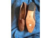 Flat woven leather Shoes, made in Italy by Raj Turner