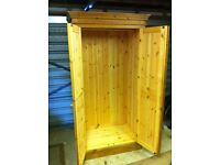 Wardrobe solid pine. £60. h193cm x d62cm x w100cm. Hardly used. Good condition. Must collect.