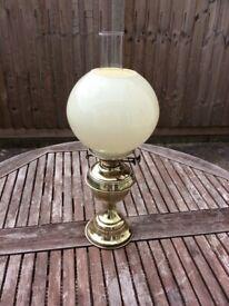 Vintage Brass Oil Lamp
