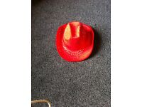 Red Sequined Cowgirl Hat
