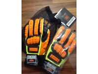 Work gloves mechanics and builders.new.
