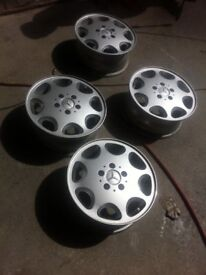 Mercedes-Benz 4 X 8 hole alloy wheels