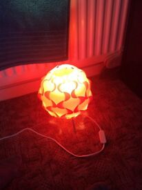 Simple yet stylish orange lamp