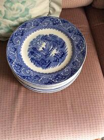 Blue willow pattern plates