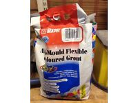 Wicks Mapei Anti-Mould Flexible Grout 5kg Ivory opened but unused wrong colour bought