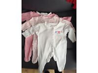 Primark baby girl sleepsuits (up to 1 month)