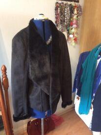 Brand new, black fur lined jacket, size 16/18 £15