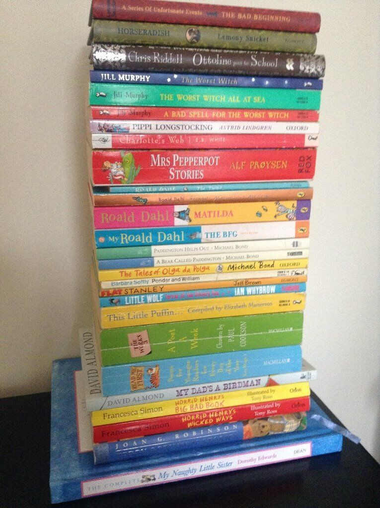 27 Childrens Books (KS1Ages 4 8in Richmond, LondonGumtree - 27 books in good condition, some brand new. Can buy individually on request Dorothy Edwards My Naughty Little Sister (Hardback) Michael Bond Paddington, Paddington Helps Out, The Tales of Olga da Polga Astrid Lindgren Pippi Longstocking Joan G....