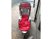 Chicco S3 3 wheeler buggy with extras