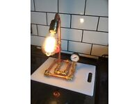 Hand built steampunk lamps with pat.test cert