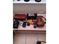 Selection of camera/photography equipment