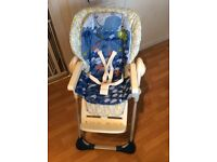Chicco Polly 2 in 1 high chair - sea world
