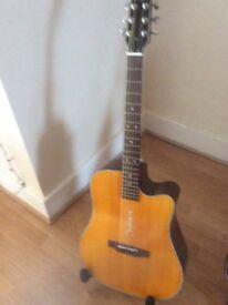 Boulder Creek ECR2V Electric Acoustic Guitar