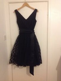 Prom, party dress, black lace size 10