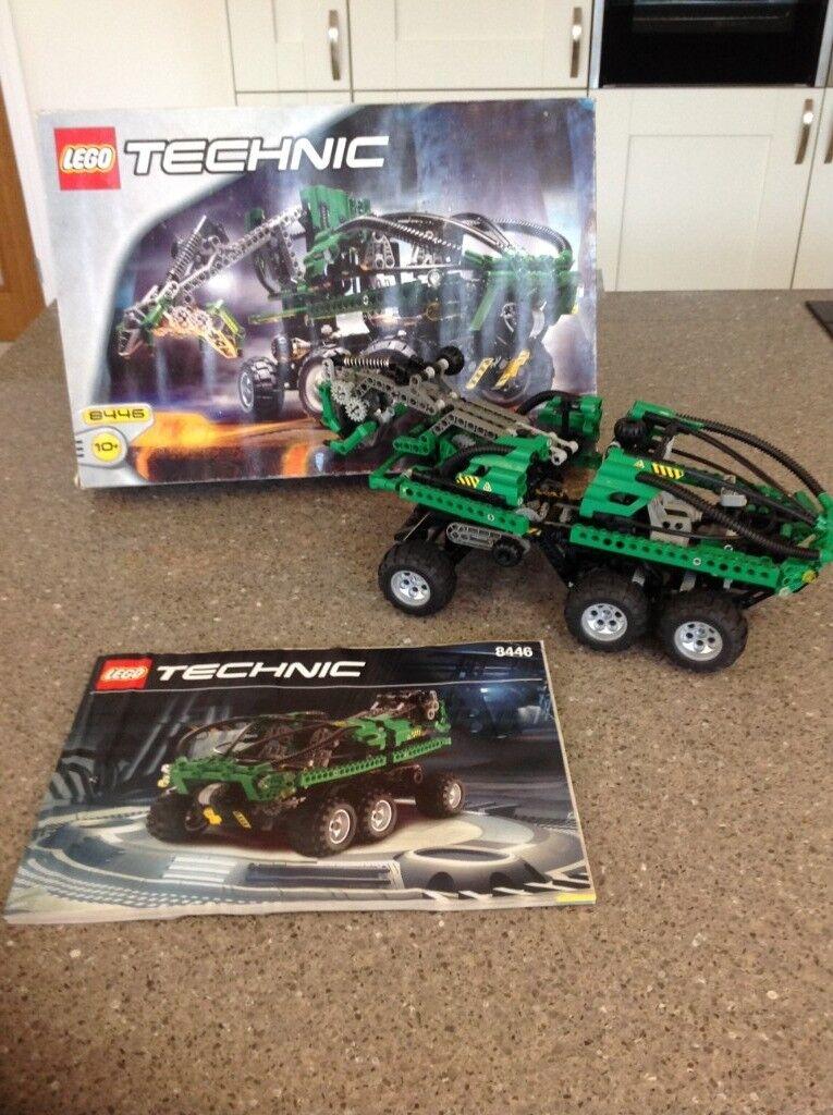 Lego Technic 8446 Green Crane Truck 100 Complete Set Vintage