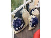 Bags of vermiculite chimneys garden or pizza oven