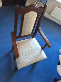 Old Charm Lancaster Dining Chairs in Tudor Brown finish