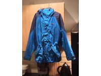 Men's small Berghaus goretex waterproof ski jacket light and dark blue