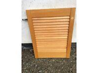 Pine wooden slatted doors