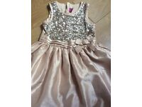Gold sequin dress 4-5 yrs