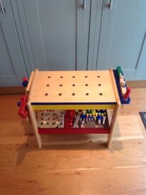Fully equipped, wood work bench and tools in good condition.