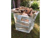 Large bulk builders bag of seasoned hardwood logs