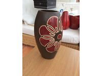Brown and red decorative vase