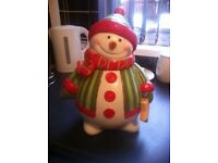 Fitz and floyed snowman cookie jar