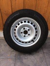 """VW TRANSPORTER 16"""" STEEL SPARE WHEEL WITH TYRE"""