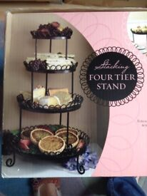 3 tier cake stand in black
