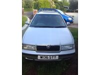 Silver skoda octavia estate great condition, tow bar,split rear seats, PAS, AC, manual, petrol