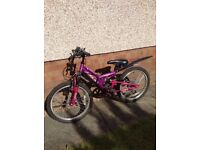 "Apollo FS20 Girls Mountain Bike 20"" wheel (Purple/Pink)"