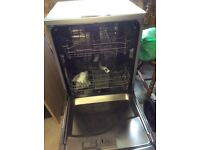 Silver Kenwood Dishwasher KDW12SL3A,60cm wide, full working order freestanding, 6 programs