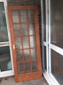 Two single glazed doors