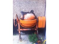 cement mixer unused for a long time