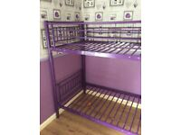 Girls purple bunk bed frame only 50 only few months old