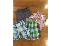 Four pairs of boys shorts aged 1.5 yrs -2 yrs and 2-3 years.