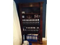 Antique style Georgian reproduction walnut veneer bookcase