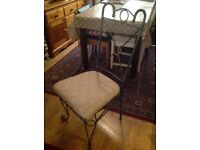 Dining silver metal chair