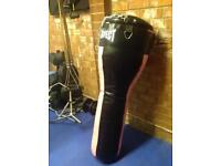 Punch bag boxing with gloves