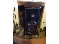 Antique style woodburner 7 kw