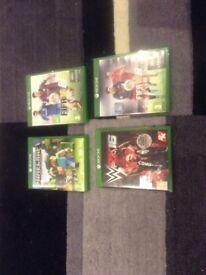 4 X Xbox 1 games