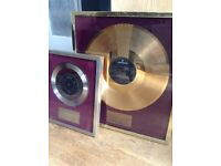 GOLD/SILVER DISC MUSIC INDUSTRY AWARD ROD STEWART NEVER A DULL MOMENT/ANGEL TO MICKEY WALLER DRUMMER