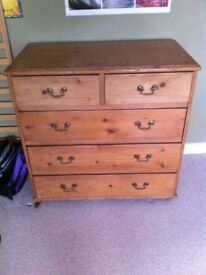 Stripped pine Victorian chest of drawers