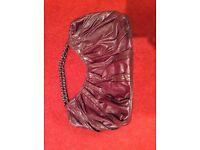 Large wine/plum shoulder bag