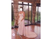 Ellis bridal wedding dress size 12, gold detail, beautiful