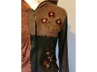 2 unusual ladies hoodie jackets. Size S/M. Hand-finished. Used, but in good condition.