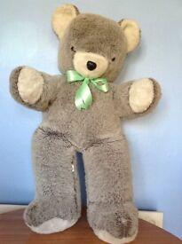 Giant grey/white teddy bear