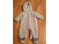 BRAND NEW GREY SNOWSUIT From Chick Pea - Size 3/6 months